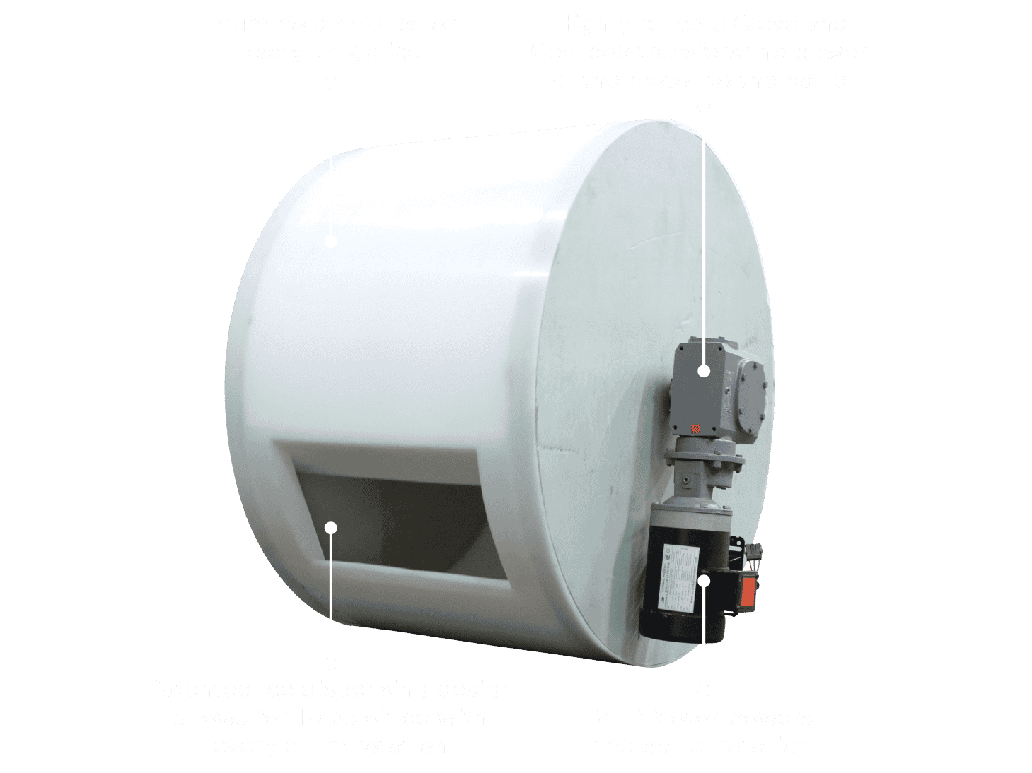 Versavend drum holds 550 lbs of ready-to-go-ice